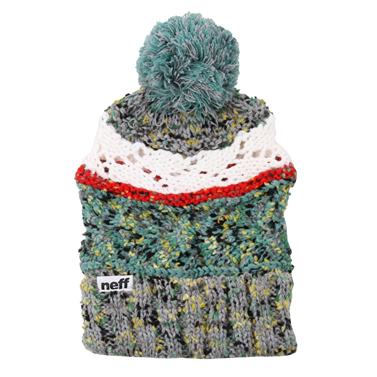 Neff Space Womens Beanie - Grey/White