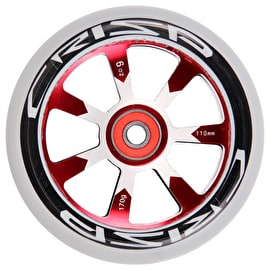 Crisp Hollowtech 110mm Scooter Wheel - Grey/Red