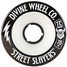 Divine Street Slayers 72mm 78A Longboard Wheels - White