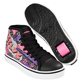 Heelys Veloz - Black/White/Pink/Comic