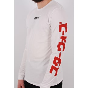 Hype International Long Sleeve T-Shirt - White