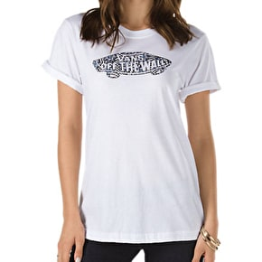 Vans Kaleidescope Rocker Slim Womens T-Shirt - White