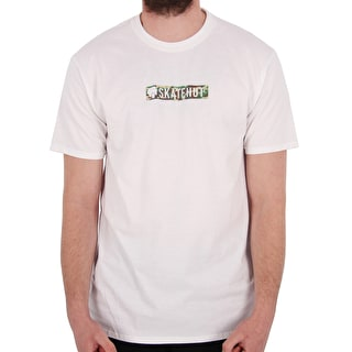 SkateHut Bar Logo T-Shirt - White/Camo