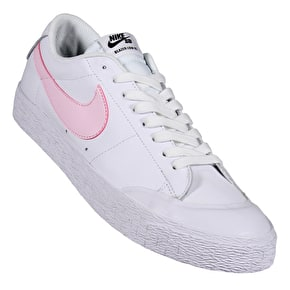 Nike SB Blazer Zoom Low Skate Shoes - White/Prism Pink