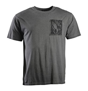 Santa Cruz Praying Hands Pocket T-Shirt - Carbon Black
