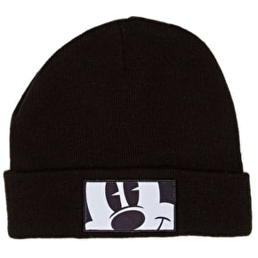 Neff Cropped Mickey Fold Beanie - Black