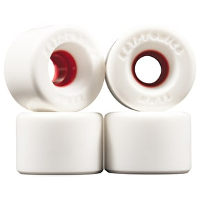 Kryptonics Star Trac Skateboard Wheels - White/Red 55mm (Pack of 4)