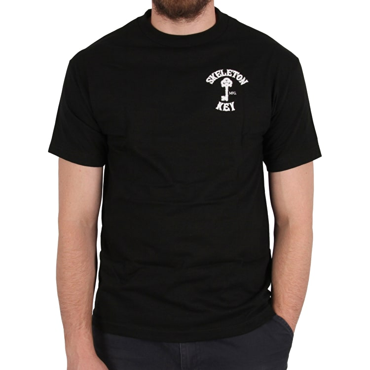 Skeleton Key Branded Key T-Shirt - Black