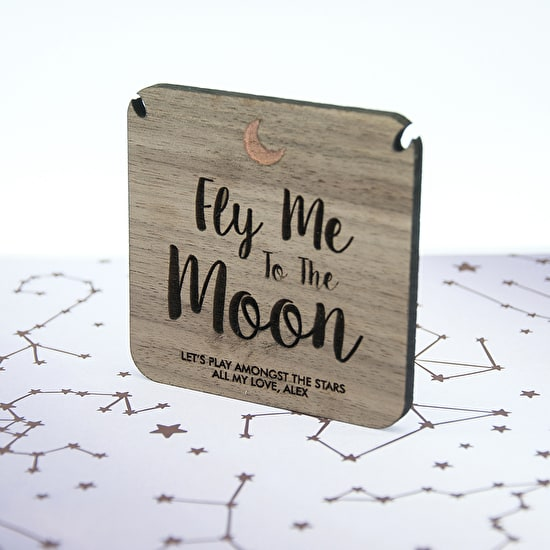 Personalised 'To The Moon' Necklace And Keepsake