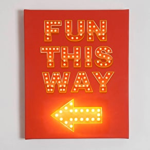 Fun This Way  Illuminated Canvas
