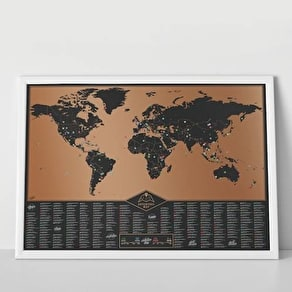 Capital Cities Deluxe Scratch Map