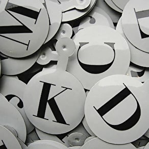 Metal Alphabet Tags
