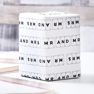 Mr & Mrs Card Design Gift Wrap