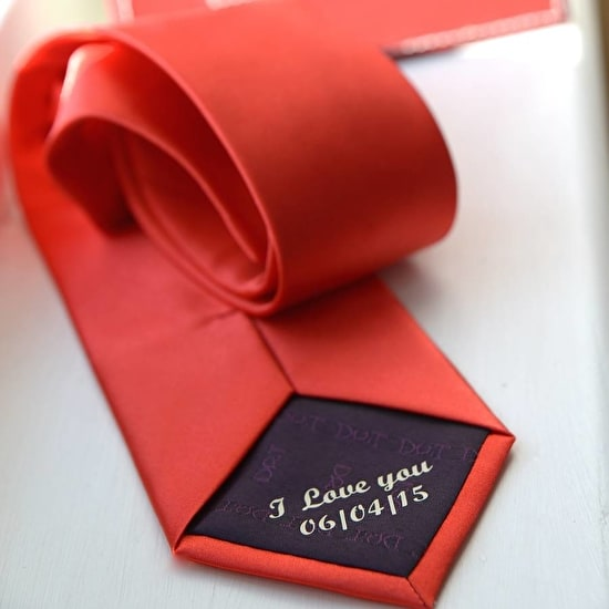 Personalised Secret Message Tie
