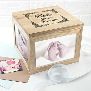 Personalised Large Oak Memory Box