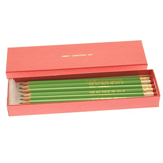 Personalised Christmas Pencils