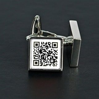 Secret Message 'Qr Code' Cufflinks