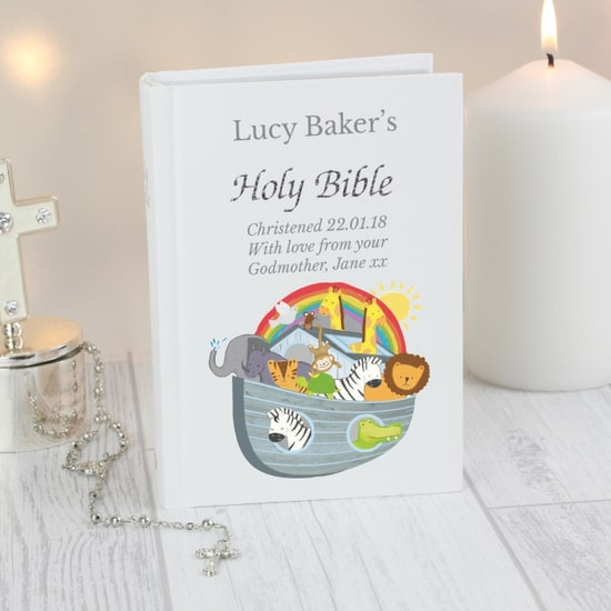 Personalised Noah's Ark Bible, keepsake, bible , christening gift