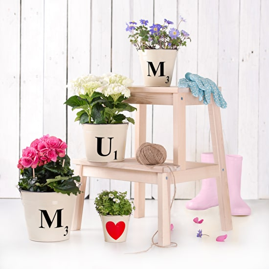 Letter Tile Style Buckets