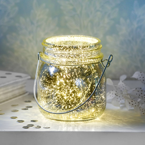 Silver firefly tealight holder