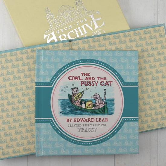 Personalised The Owl And The Pussy Cat Gift Book