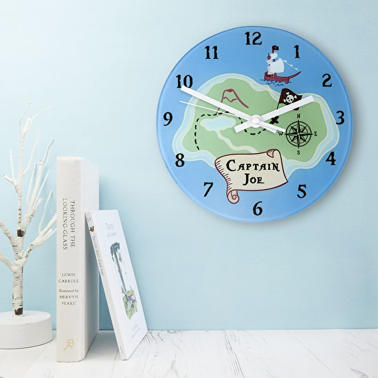 Lifestyle shot of Personalised Pirate Clock