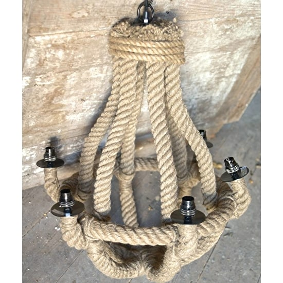NATURAL ROPE CHANDELIER