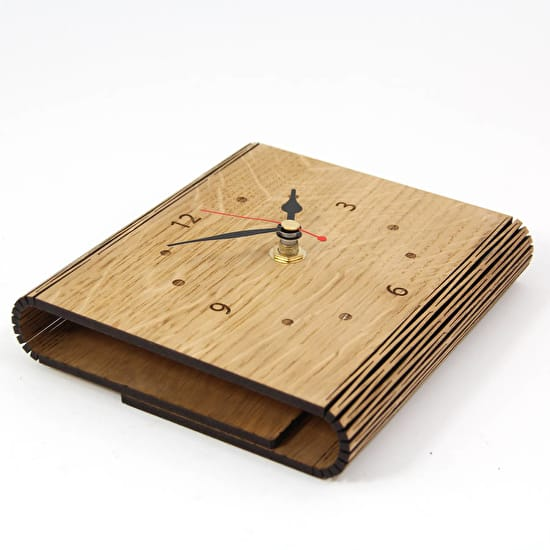 Personalised Living Hinge Clock