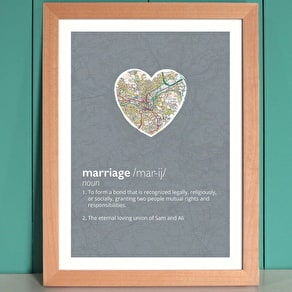 Personalised Marriage Dictionary Map