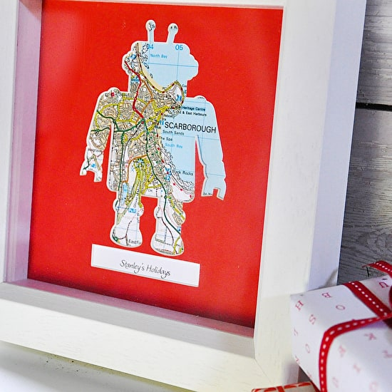 Personalised Framed Robot Map