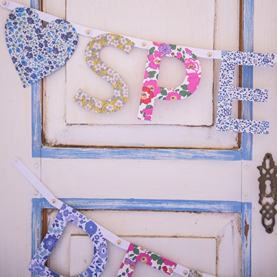 Liberty Print Boxed Letter Garland Kit