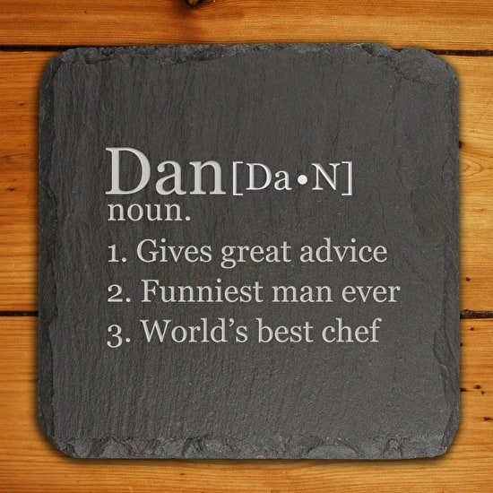 Personalised Dictionary Style Slate Tile
