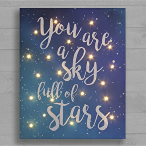 Sky full of Stars Canvas