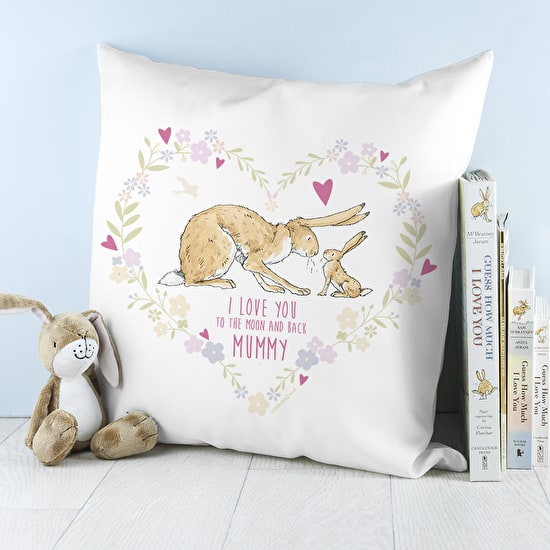 Personalised Heart Wreath Cushion Cover
