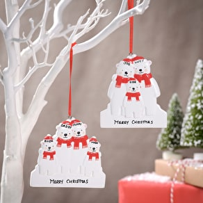 Personalised Bear Family Decoration