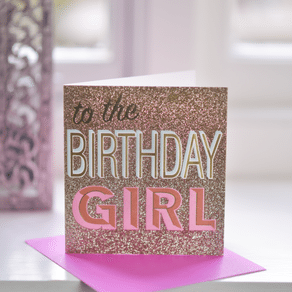 Birthday Girl Sparkle Card