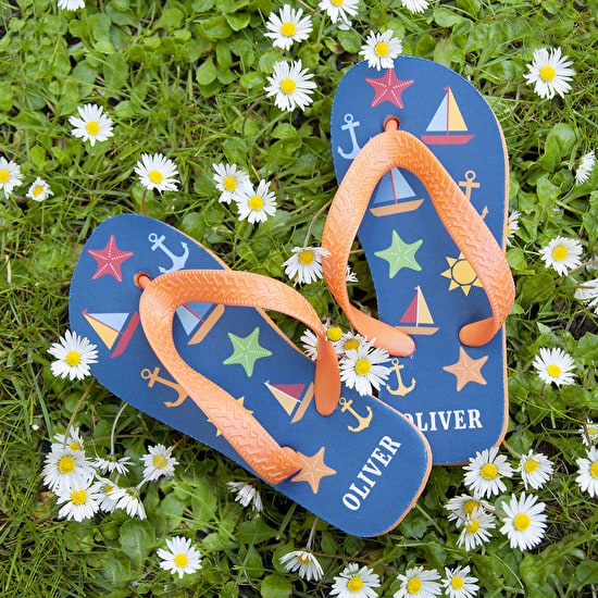 Boys Personalised Flip Flops