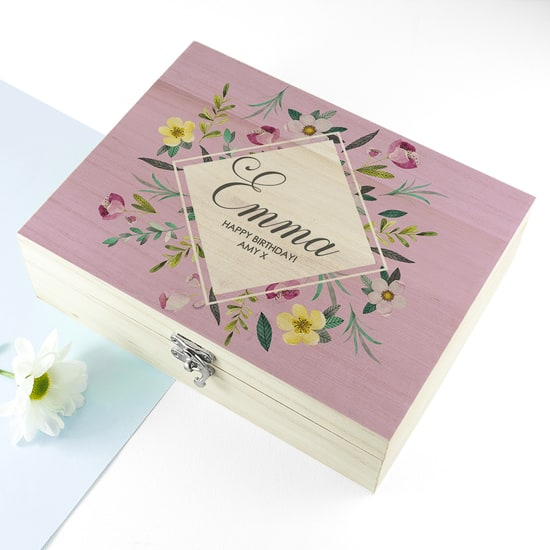 Personalised Botanical Tea Box