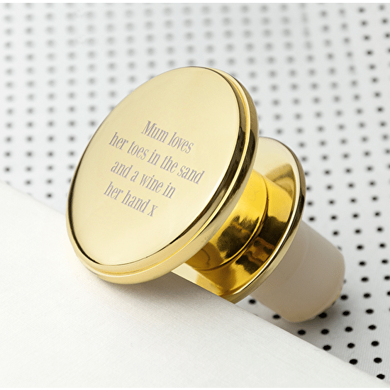 Personalised Gold Prosecco Stopper
