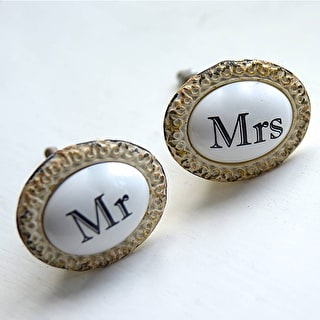 Mr And Mrs Set Of Drawer Knobs