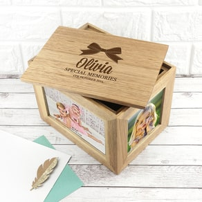 Personalised Baby's Photo Keepsake Box