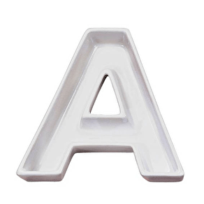 A Set Of 'Party' Ceramic Letter Dishes