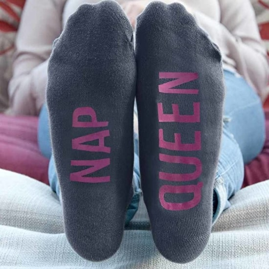 Personalised Charcoal and Pink Socks