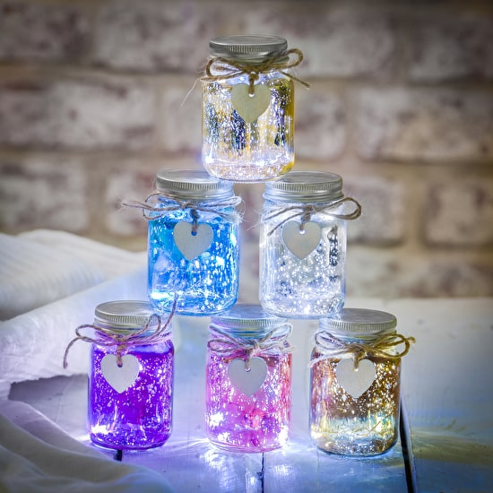 Mini Metallic LED Firefly Jars