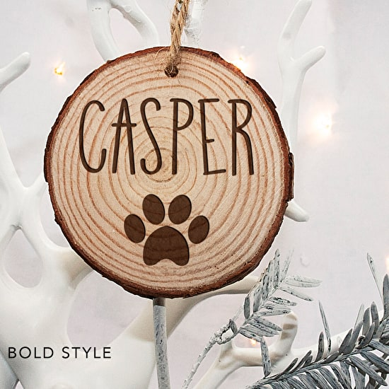 Personalised Wooden Dog Decoration