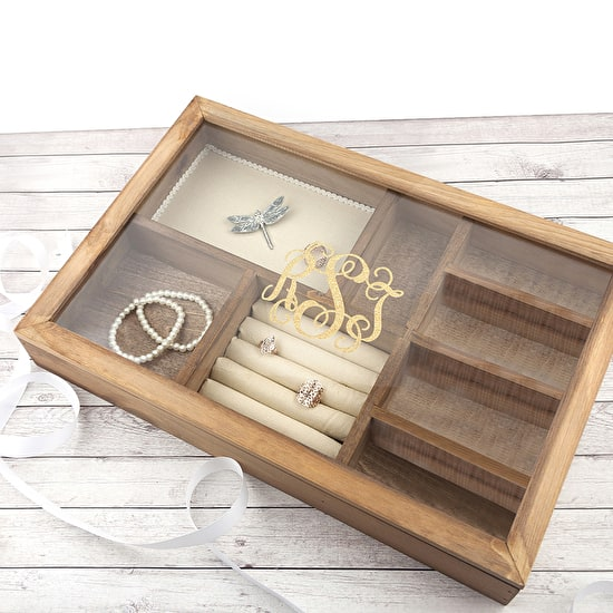 Personalised Wooden Large Jewellery Box
