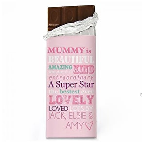 Personalised 'BEST MUM' Wine Glass & Chocolate
