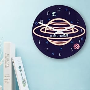 Personalised 'Planet' Wall Clock