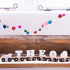 Personalised Wooden Advent Drop Box