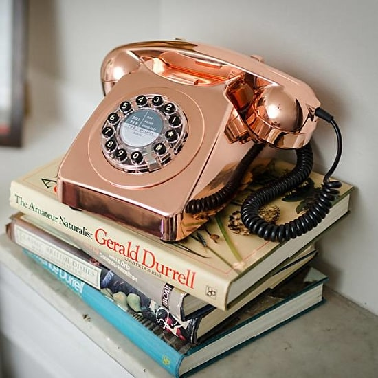 Retro 746 Copper Metallic Telephone